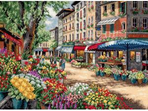 """Gold Collection Paris Market Counted Cross Stitch Kit-15""""X11"""""""