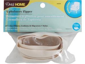 """Nylon Upholstery Zipper 24""""-Cream"""