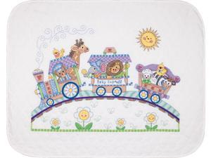 """Baby Hugs Baby Express Quilt Stamped Cross Stitch Kit-43""""X34"""""""