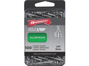 Arrow Fastener RSA1/8IP Arrow Rivets-1/8X1/8 ALUM RIVET