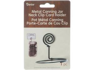 Metal Canning Jar Neck Clip Card Holder-Black