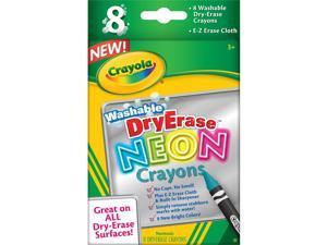 Crayola Dry Erase Neon Crayons 8/Pkg-
