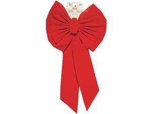 Holiday Trims 11-Loop 18 In. W. x 35 In. L. Red Velvet Christmas Bow Pack of 12