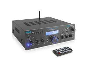 Pyle PDA5BU.0 Home Compact Bluetooth Amplifier Stereo Receiver System with FM Radio, MP3/USB/SD/AUX (200 Watt)