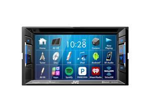 "JVC KW-V230BT Double-DIN AV Multimedia Bluetooth DVD/CD USB AM/FM Radio Stereo Receiver with 6.2"" Clear Resistive Touch Monitor"