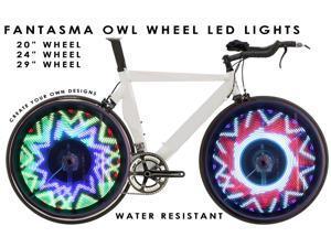 Fantasma OWL BK-7082 Bicycle On-Wheel LED Imaging System  (700c~up)
