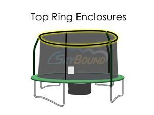 SkyBound 14 Foot Trampoline Net - Fits 14 Foot Frames with 4 Enclosure Poles and Top Ring (Compatible with JumpKing, Bazoongi, Orbounder)