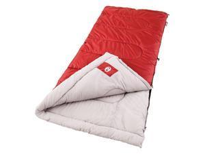 Coleman Palmetto 75x33 In Retangle Sleeping Bag Red/Tan