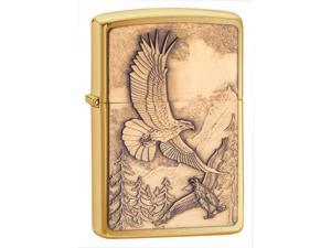 Zippo HP Brass Where Eagles Dare Emblem Lighter