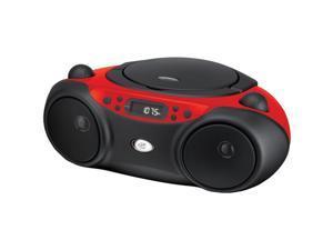 Gpx Boombox Cd Am Fm Radio 3.5Mm Input Led Display - Red - BC232R