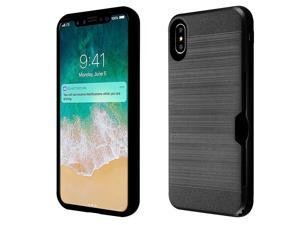 Insten Dual Layer [Shock Absorbing] Hybrid Brushed Hard Plastic/Soft TPU Rubber with