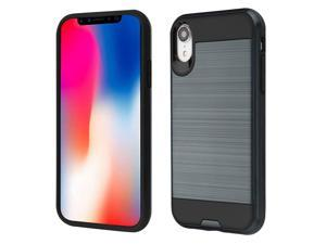 insten Dual Layer [Shock Absorbing] Hybrid Brushed Hard Plastic/Soft TPU Rubber Case