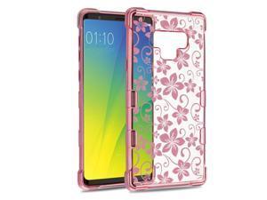 4867615ed64 Insten Tuff Klarity Hibiscus Flower Hard Plastic Soft TPU Rubber  Transparent Case Cover For Samsung