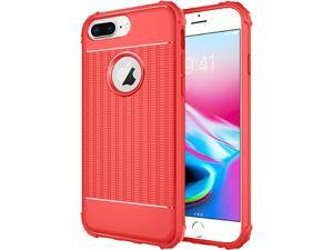 f8ed3ff435a7 iPhone 8 Plus case by Insten Non-Slip Textured Air-Cushion Shockproof Dual  Layer