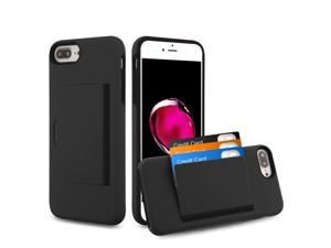 0d090c533f iPhone 8 Plus case iPhone 7 Plus case by Insten Poket Dual Layer [Shock  Absorbing