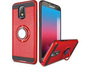 Samsung Galaxy J7 (2018) Case, by Insten Simplistic Metallic Brushed 360 Degree Rotation