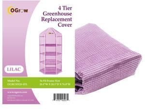 "Ogrow® Hexagonal Premium PE Greenhouse Replacement Cover, Lilac - fits Frame Size 38""L x 38""W x 62""H"