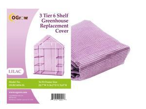 "Ogrow® Premium PE Greenhouse Replacement Cover, Lilac - fits Frame Size 29""L x 56""W x 77""H"