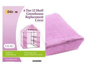 "Ogrow® Premium PE Greenhouse Replacement Cover, Lilac - fits Frame Size 56""L x 56""W x 77""H"