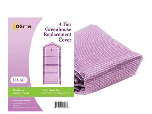 "Ogrow® Premium PE Greenhouse Replacement Cover, Lilac - fits Frame Size 19""L x 27"" W x 62"" H"