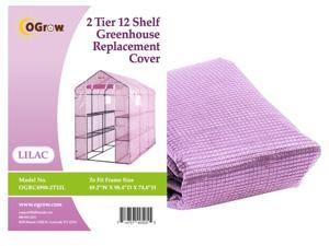 "Ogrow® Premium PE Greenhouse Replacement Cover, Lilac - fits Frame Size 98""L x 49""W x 75""H"