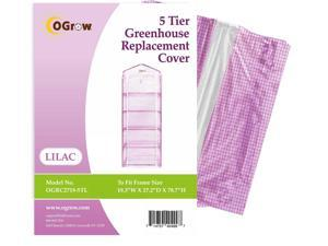 "Ogrow® Premium PE Greenhouse Replacement Cover, Lilac - fits Frame Size 19"" L x 27""W x 79""H"