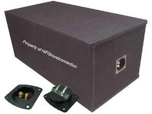 "CAR AUDIO PORTED DUAL 15"" PAINTABLE SUBWOOFER ENCLOSURE BASS SPEAKER SUB BOX"