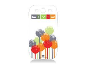 Honda Civic Flower Color Vinyl Skin for Samsung Galaxy S3