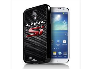 Honda Civic Si Red Logo on Grille Samsung Galaxy S4 Black Cell Phone Case