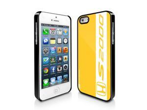 Honda S2000 Stripe on Yellow iPhone 5 Black Cell Phone Case