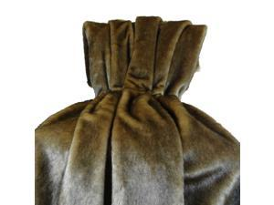 Plutus Wild Mink Fur Handmade Throw Pillow, (Bedspread 102W x 116L Queen)