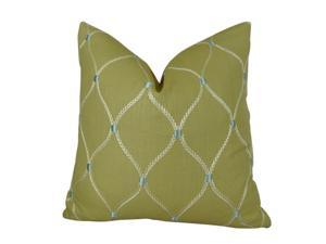"""Plutus Dewdrop Handmade Throw Pillow, (Double sided  24"""" x 24"""")"""