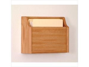 Wooden Mallet Deep Pocket Letter Size Office File Holder Rack Furniture Light Oak
