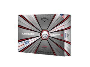Callaway 64240571280 Callaway Chrome Soft X Triple Track Golf Balls-Dozen-White