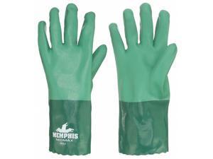 """Neoprene Chemical Resistant Gloves,  M,  12"""" Glove Length,  Green,  1 PR"""