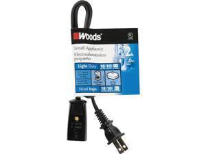 Woods 2 Ft. 18/2 10A Mini Plug Appliance Cord 0293