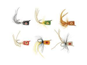 South Bend 1006 Poppers Assorted Fishing Packaged Fly/Popper