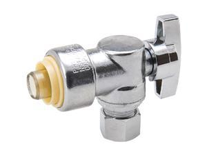 ProLine 1/2 In. PF x 3/8 In. OD Brass Push Angle Valve 1190-932HC
