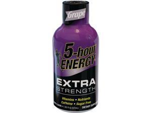5 Hour Energy 1.93 Oz. Extra-Strength Grape Flavor Energy Drink Pack of 12