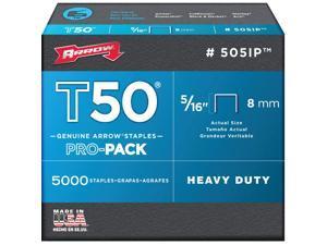 Arrow T50 Pro-Pack Heavy-Duty Staple, 5/16 In. (5000-Pack) 505IP