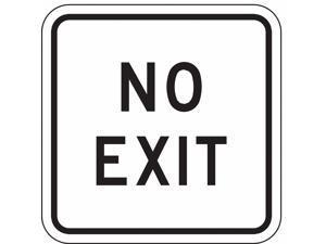 LYLE FA-022-18HA Traffic Sign,18 x 18In,BK/WHT,No Exit