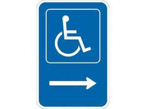 """Lyle ADA Handicapped Parking Sign,18"""" x 12""""  T1-1130-DG_12x18"""