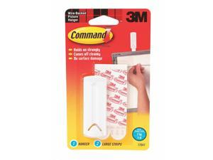 Command Adhesive Back Picture Hanger; 1 Hook(s); Molded Plastic 17041