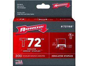 """Arrow Fastener 721168 13/64"""" x 31/64"""" T72 Insulated Staples"""