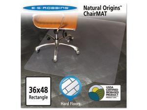 ES Robbins Natural Origins Chair Mat For Hard Floors 36 x 48 Clear 143007