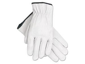 Memphis Grain Goatskin Driver Gloves White Extra-Large 12 Pairs 3601XL