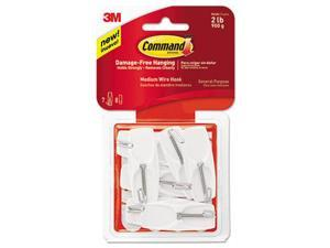 Command™ Hook,Medium,Wire,7/Pk,Wh 17065VPES
