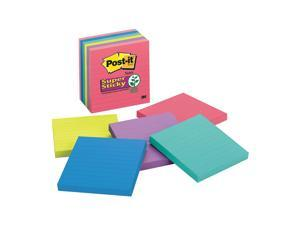 "Post-it Super Sticky Notes, 4x4 In., PK6 4"" x 4"" Rio De Janeiro   675-6SSUC"
