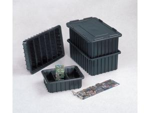LEWISBINS CDC2040-MXL Conductive Box Cover,Black,16-3/4x11-1/4
