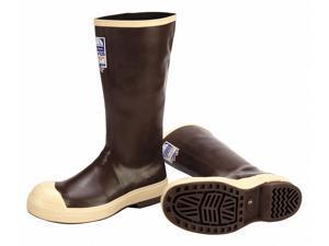 Rubber Boot,  Men's,  12,  Knee,  Steel Toe Type,  Neoprene,  Brown, Tan,  1 PR